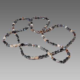 Lot of 2 Banded Agate Beads Necklace.