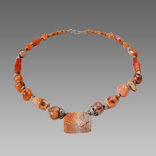 Roman Style Agate Beads Necklace.