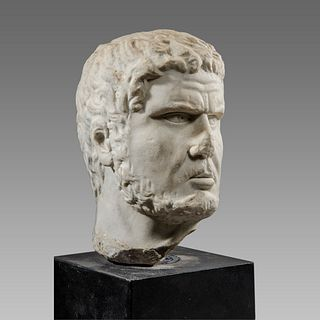 Roman Marble Head of Caracalla?.