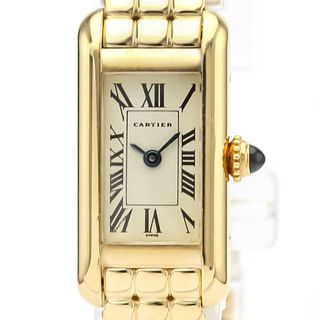 Cartier Tank Quartz Yellow Gold (18K) Women's Dress Watch 828006