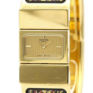 Hermes Loque Quartz Gold Plated Women's Dress Watch LO1.201