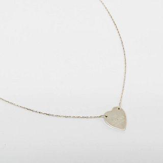 Gucci Heart Silver 925 Women's Pendant Necklace (Silver)