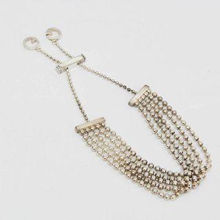 Gucci 5-ball Chain Silver 925 Bangle Silver