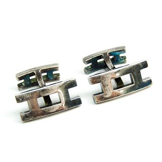 Hermes Silver 925 Fixed Backing Cufflinks Silver Api