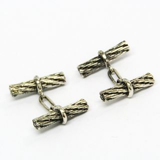 Hermes Metal Cufflinks Gunmetal,Silver cuffs
