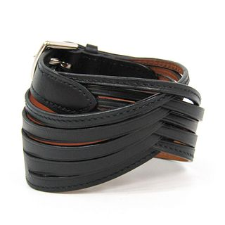 Hermes Leather Bracelet Black