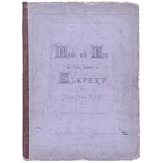 1863 Anti-Slavery Bond and Free: Five Sketches Illustrative of Slavery, 4 Known