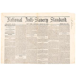 1865-1866 (40) Newspaper Archive of the NATIONAL ANTI-SLAVERY STANDARD, New York