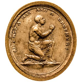 c. 1830 Rare Anti-Slavery Medallion: Am I Not A Man and A Brother, Medallion