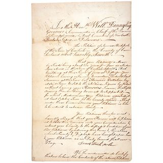 1759 French + Indian War Petition Signed GENERAL JOHN ARMSTRONG and Penn Leaders