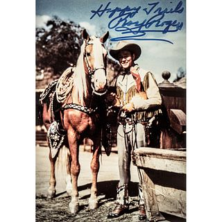 Color Photograph of Roy Rogers and Trigger Signed - Happy Trails, ROY ROGERS