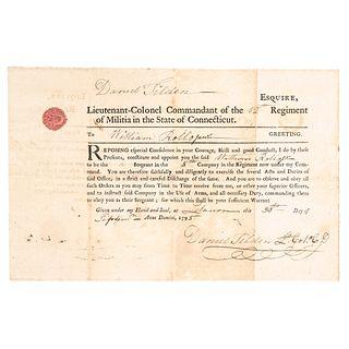 1795 COLONEL DANIEL TILDEN 12th Regiment of the Connecticut Militia Appointment