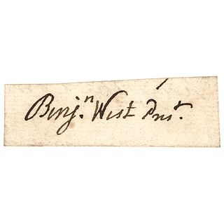 BENJAMIN WEST,Signature as President of the British Royal Academy