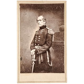 General JOHN E WOOL Inscribed + Signed CDV Photograph to MAJOR GENERAL BURNSIDE