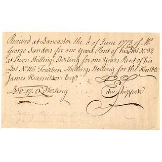 EDWARD SHIPPEN III Mayor of Philadelphia Family of Margaret Who Married Benedict Arnold