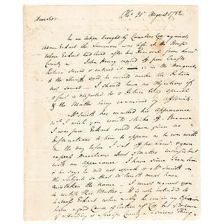 1782-Dated Revolutionary War ALS Re: Transporting Hessian NY Garrison Soldiers !