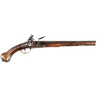 c. 1690-1710 Rare French Flintlock Holster Pistol by HENRI LIEBAU, A. SUDAN