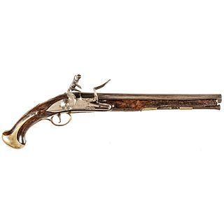c 1730-1740 British Military Dragoon Variant Pattern Flintlock Holster Pistol