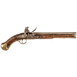 c. 1777 Revolutionary War British Royal Navy Flintlock Long Sea Service Pistol