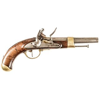 1814-Dated Rare French, AN XIII, Flintlock Pistol with Mre ROYALE DE VERSAILLES