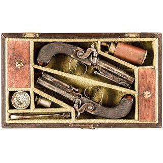 Exceptional Cased Percussion Belt Pistol Pair by RICHARDSON, CORK, c. 1835-1845