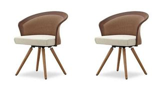 Pair of SHELLS Armchairs by Martin Ballenat For Tonon