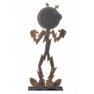 A Reddy Kilowatt Iron Figure