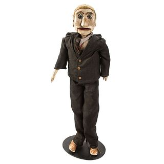 A Carved and Painted Wood Ventriloquist's Dummy
