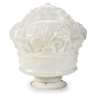 A Standard Oil Milk Glass Crown Globe