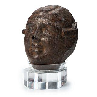 "A John ""CZ"" Czeszeziezki Cast Aluminum Figural Pumpkin Mold, Lake County, Ohio"
