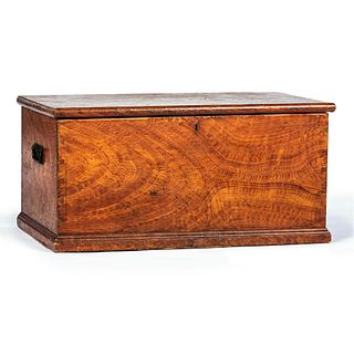 A Federal Iron-Mounted Grain-Painted Pine Blanket Chest, Mid-Atlantic States, Circa 1830
