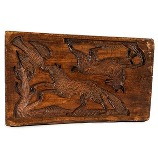 A Continental Carved Mold Board, Circa 1871