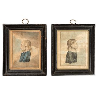 A Pair of New Jersey Portraits, Attributed to Jacob Maentel (American, 1763-1863)