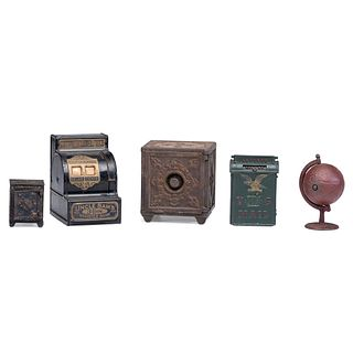 Five Cast Iron Novelty Banks