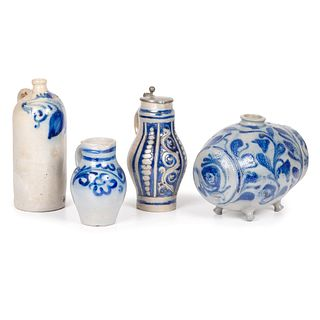 Four Pieces of Westerwald and other Stoneware