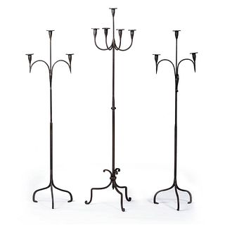 Three Wrought-Iron Candlestands