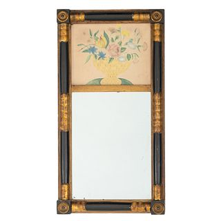 A Classical Looking Glass with Watercolor Panel