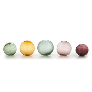 Five Blown Glass Target Balls