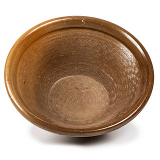 A Five-Quart Stoneware Mixing Bowl