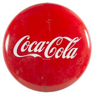 A Porcelain Coca-Cola Advertising Sign, Circa 1955