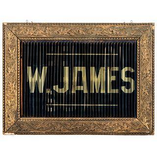 A W. James Sunlight Soap Lenticular Tin Advertising Sign
