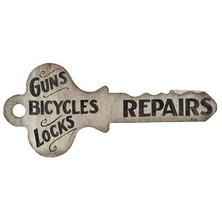 A Painted Tin Locksmith Trade Sign