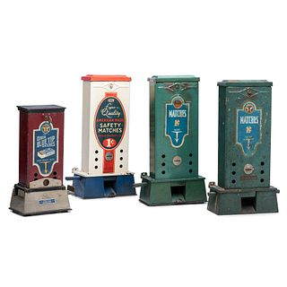 Four Columbus Vending Company Penny Match Dispensers
