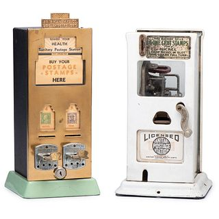 """Two """"Sanitary"""" Postage Stamp Dispensers"""