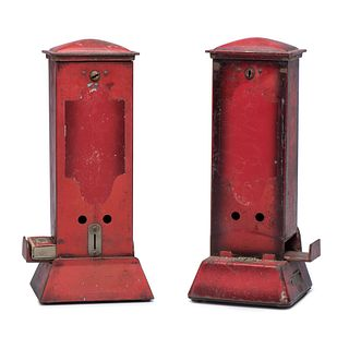 "Two Northwestern Novelty Co. ""Ohio"" Coin-Operated Match Dispeners"