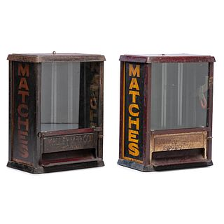Two Kelley Mfg. Co.Three-Column Match Box Vendors, Circa 1920
