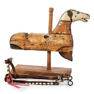 A Folk Art Wooden Hobby Horse