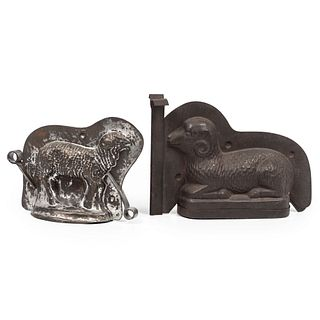 Two Tin Sheep Molds