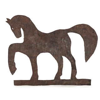 A Sheet Metal Horse Weathervane