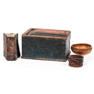 A Scandinavian Slide Lid Box and Miniature Bible